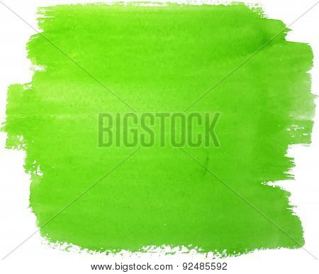 Abstract watercolor hand paint green texture