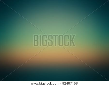 Beautiful Colorful Gradient Green Blue Orange