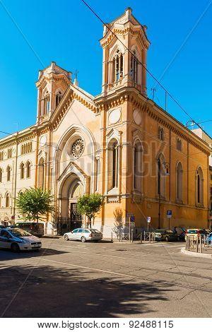 Chiesa Dell'immacolata All'esquilino Vista Da Via Nino Bixio In Rome, Italy
