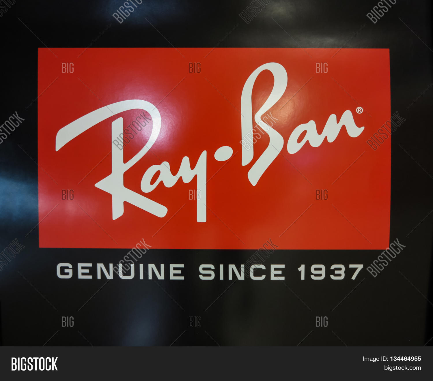 c116259e95 ALBERTA CANADA - SEPTEMBER 20 2014  Ray-Ban logo. It is a brand of  sunglasses and eyeglasses founded in 1937 by American company Bausch   Lomb.