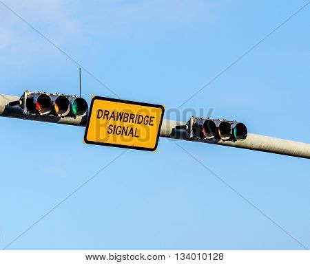 Drawbridge Signal With Traffic Light