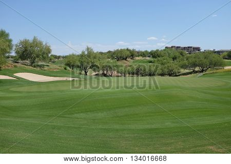 SCOTTSDALE, ARIZONA - JUNE 11, 2016: Golf Course at the Westin Kierland Resort and Spa. The luxury resort is located in Scottsdale, Arizona.