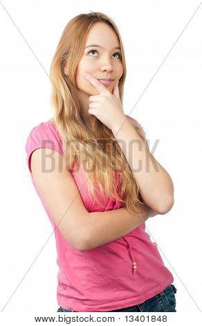 Thoughtful Teenage Girl