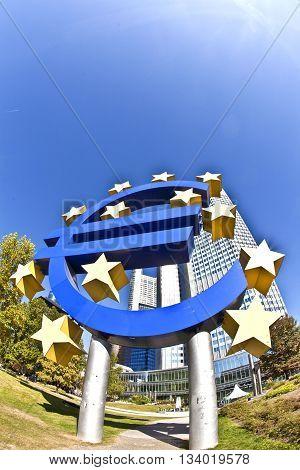 FRANKFURT, GERMANY - JUNE 3, 2012: The European Central Bank (ECB) on a sunny day Frankfurt am Main Germany
