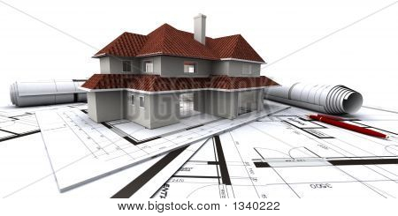 American House On Architect'S Plans