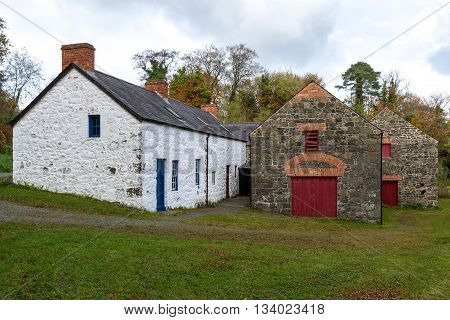 Old Stone white Mill in Northern Ireland.