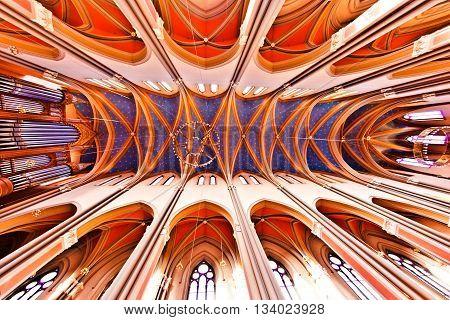 Famous Gothic Markt Kirche From Inside