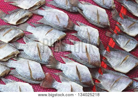 Salted Fish Dry Or Dried Fish In Thailand Of Asia