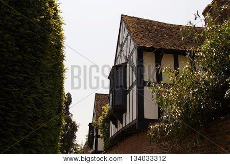 Old tudor building in Beaconsfield Buckinghamshire England
