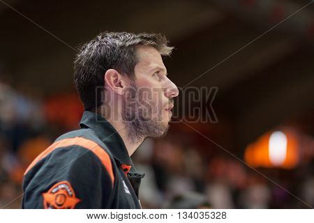 VALENCIA, SPAIN - JUNE 9th: Van Rossom during 4th playoff match between Valencia Basket and Real Madrid at Fonteta Stadium on June 9, 2016 in Valencia, Spain