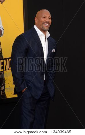 LOS ANGELES - JUN 10:  Dwayne Johnson at the Central Intelligence Los Angeles Premiere at the Village Theater on June 10, 2016 in Westwood, CA