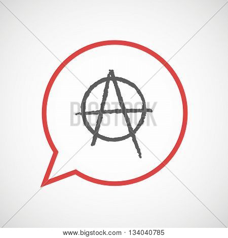 Isolated Comic Balloon With An Anarchy Sign