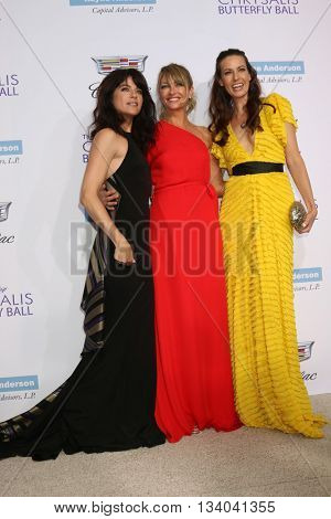 LOS ANGELES - JUN 11:  Selma Blair, Rebecca Gayheart, Liz Carey at the 15th Annual Chrysalis Butterfly Ball at the Private Residence on June 11, 2016 in Brentwood, CA