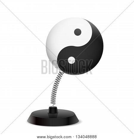 Table souvenir in form of Yin Yang symbol on spring
