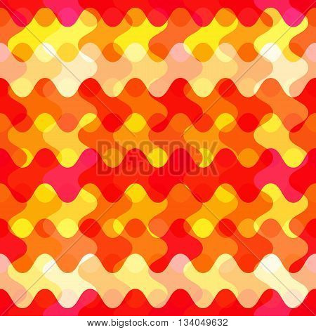 the abstract seamless orange pattern, hot feeling