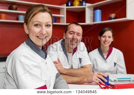 Nursing Staff Makes A Coffee Break