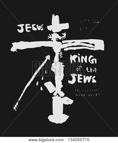 Symbolic image of the crucifixion of Jesus Christ