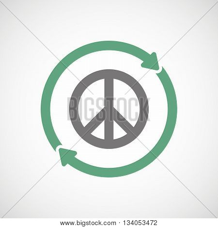 Reuse Line Art Sign With A Peace Sign