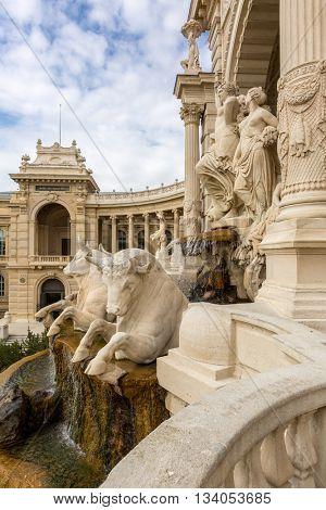 Palais Longchamp in Marseille France