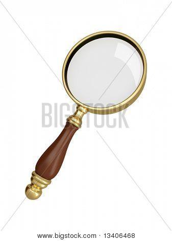 Antique gold magnifier