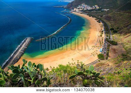 Sandy Beach Las Teresitas In Tenerife
