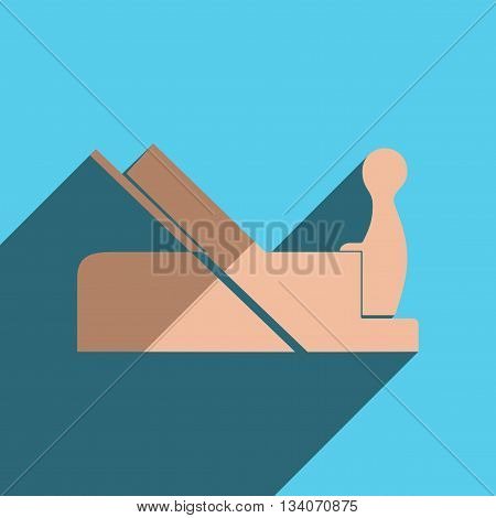 Flat icons with shadow of jointer. Vector illustration
