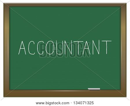 Accountant Word Concept.