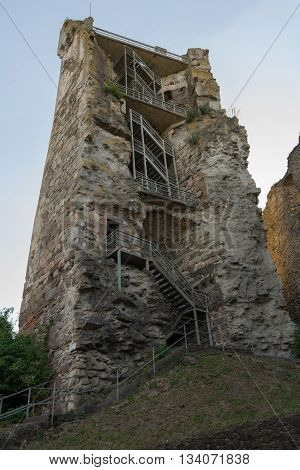 lookout tower of the medieval knight's castle Schaunberg - Austria
