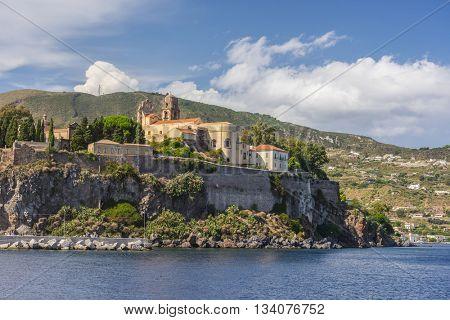 Lipari Island the largest of Aeolian Islands of the Norhtern coast of Sicily, Italy