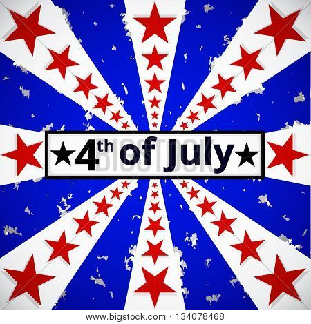 4th of July holiday battle tattered background. Independence day background. American flag background.