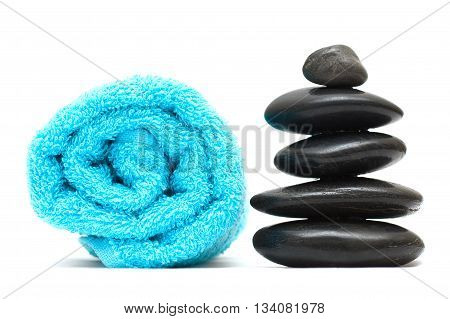 Stone - feng shui concept isolated on white