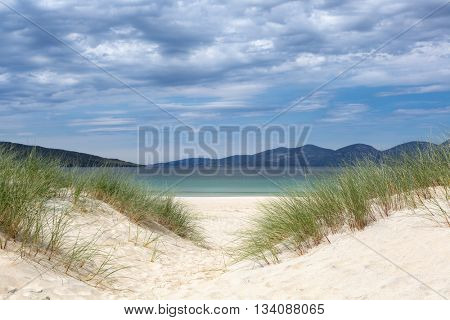 Dunes on Luskentyre beach on the Isle of Harris, Outer Hebrides, Scotland