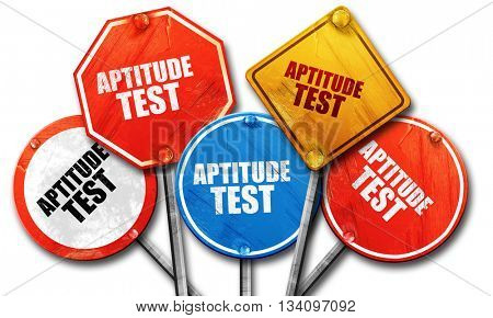 aptitude test, 3D rendering, rough street sign collection