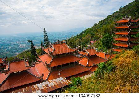 Pagoda,temples. Asia. Vietnam.phan Thiet. Summer.