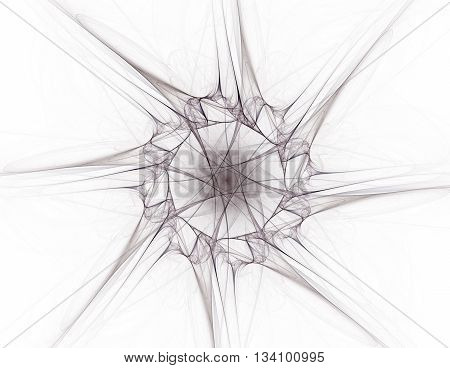 Geometry of Space series. Visually attractive backdrop made of conceptual grids curves and fractal elements suitable as element for layouts on physics mathematics technology science and education