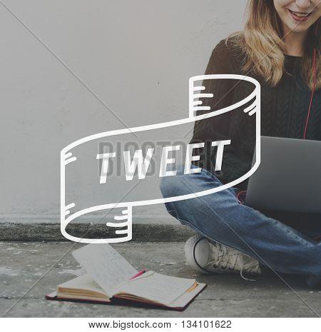 Tweet Message Online Social Network Concept