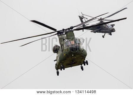 Chinook Apache Helicopter