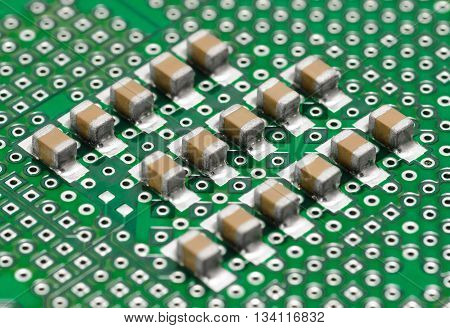 Capacitor Stripes. Smd Type