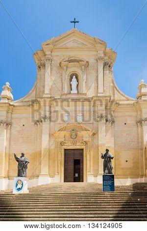 Ir-Rabat Victoria Ghawdex - Capital of the island Gozo Maltese islands in Mediterranean sea