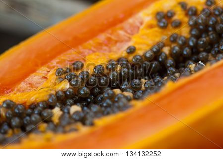 fresh delicious papaya ate in costa rica.