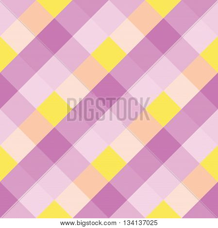 Seamless geometric pattern. Madras check pattern with lily yellow pink.Digital print for wallpaper wrapping paper fabric textile scrap booking apparel web design.Vector seamless background.