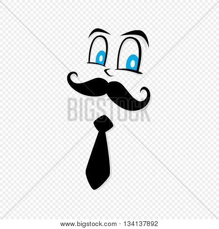 mustache worker gentleman hipster theme vector art illustration poster