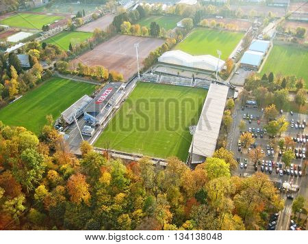 Stuttgart Germany - October 19 2008: Stadium