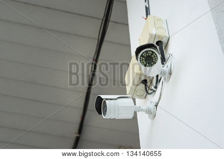 CCTV Security Camera Closed circuit television surveillance camera.