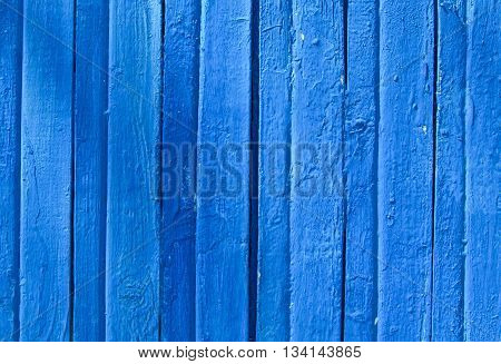 Blue Wooden Texture from Board with Structure and Chink,Old Paint,Cracks,Nature Background