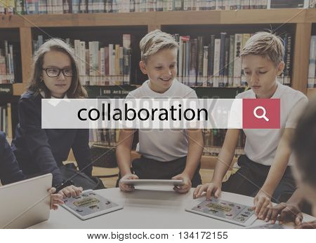 Collaboration Corporate Team Building Support Help Teamwork Concept