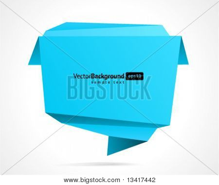 Origami konuşma balonu vektör arka plan
