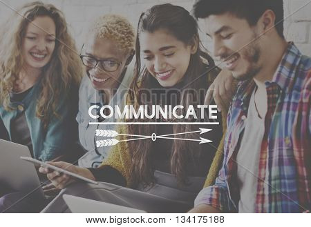 Communication Connection Together Cowork Collegues Concept