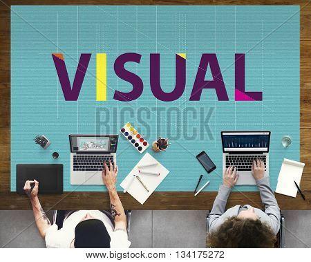 Visual Access Design Digital Image View Vision Concept
