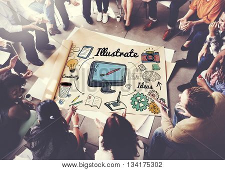 Illustrate Design Graphic Art Visual Concept